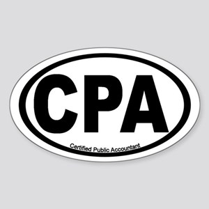 Certified Public Accountant (CPA) Oval Sticker