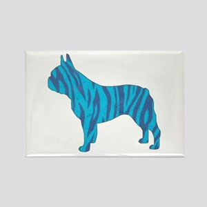 Blue Tiger Frenchie Rectangle Magnet