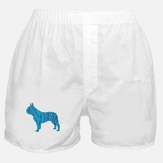 Blue Tiger Frenchie Boxer Shorts