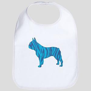 Blue Tiger Frenchie Bib