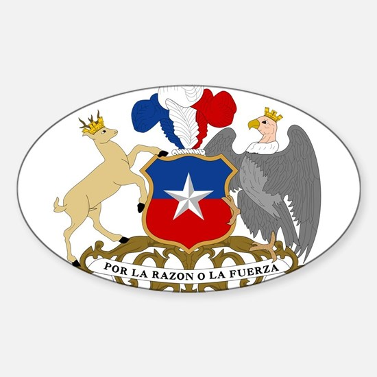 Chile Coat Of Arms Sticker (Oval)