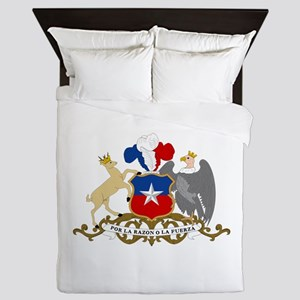 Chile Coat Of Arms Queen Duvet