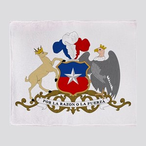 Chile Coat Of Arms Throw Blanket