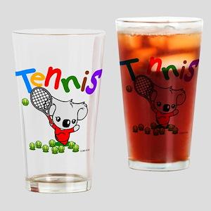Tennis Koala Bear Drinking Glass
