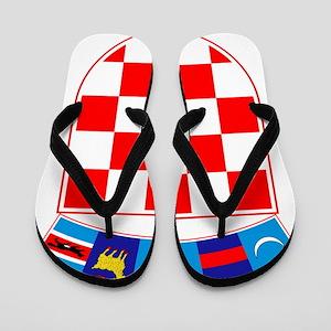 Croatia Coat Of Arms Flip Flops