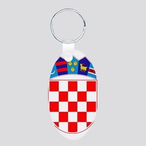Croatia Coat Of Arms Aluminum Oval Keychain
