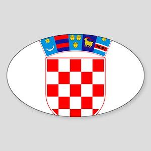 Croatia Coat Of Arms Sticker (Oval)