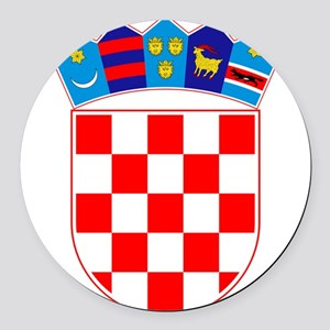 Croatia Coat Of Arms Round Car Magnet