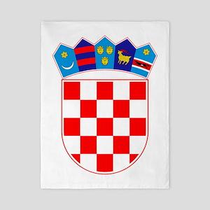 Croatia Coat Of Arms Twin Duvet