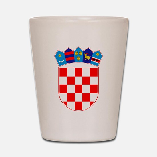 Croatia Coat Of Arms Shot Glass