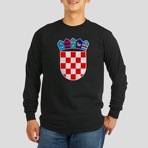 Croatia Coat Of Arms Long Sleeve Dark T-Shirt