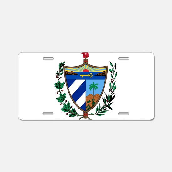 Cuba Coat Of Arms Aluminum License Plate