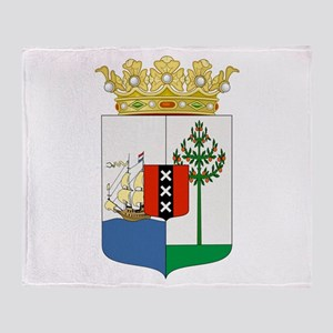 Curacao Coat Of Arms Throw Blanket