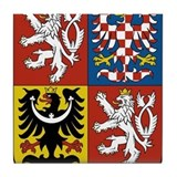 Czech coat of arms Tile Coasters