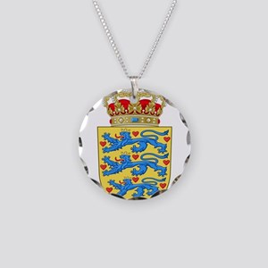 Denmark Coat Of Arms Necklace Circle Charm