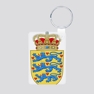 Denmark Coat Of Arms Aluminum Photo Keychain