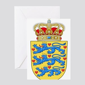 Denmark Coat Of Arms Greeting Card