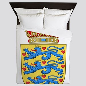 Denmark Coat Of Arms Queen Duvet
