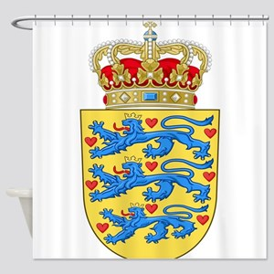 Denmark Coat Of Arms Shower Curtain