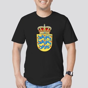 Denmark Coat Of Arms Men's Fitted T-Shirt (dark)