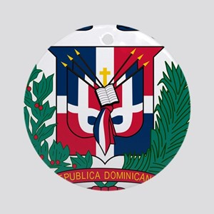 Dominican Republic Coat Of Arms Ornament (Round)
