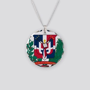 Dominican Republic Coat Of Arms Necklace Circle Ch