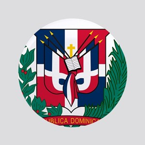 """Dominican Republic Coat Of Arms 3.5"""" Button"""