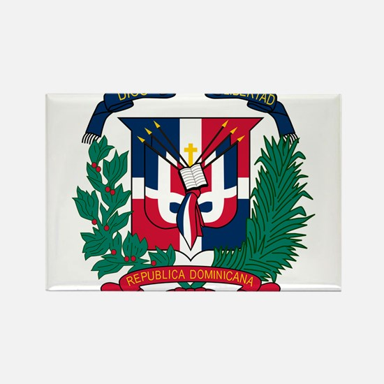 Dominican Republic Coat Of Arms Rectangle Magnet