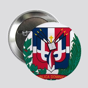 "Dominican Republic Coat Of Arms 2.25"" Button"