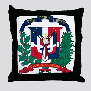 Dominican Republic Coat Of Arms Throw Pillow