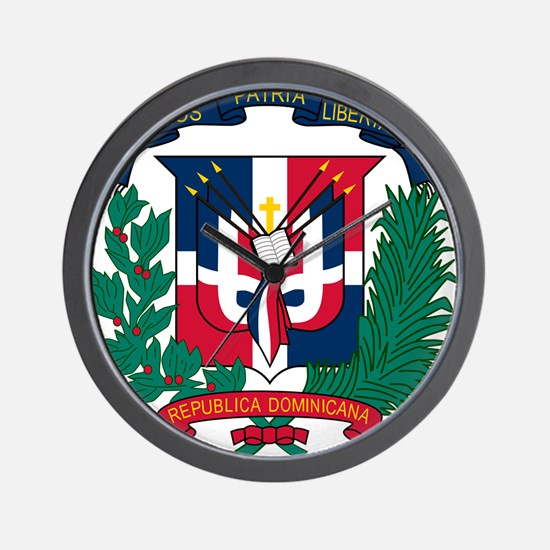 Dominican Republic Coat Of Arms Wall Clock