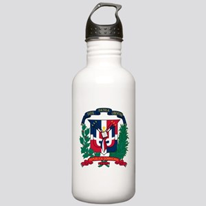 Dominican Republic Coat Of Arms Stainless Water Bo