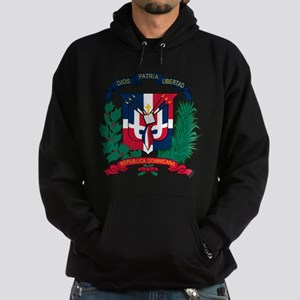 Dominican Republic Coat Of Arms Hoodie (dark)