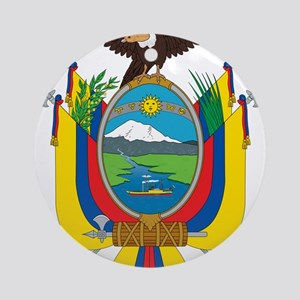 Ecuador Coat Of Arms Ornament (Round)