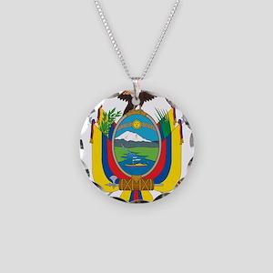 Ecuador Coat Of Arms Necklace Circle Charm