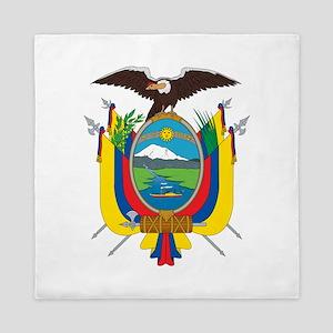 Ecuador Coat Of Arms Queen Duvet