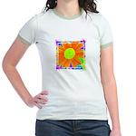 Cosmic flower Jr. Ringer T-Shirt
