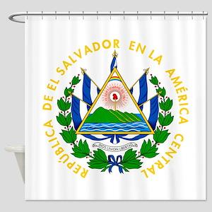 El Salvador Coat Of Arms Shower Curtain
