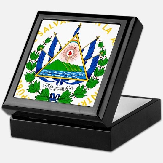 El Salvador Coat Of Arms Keepsake Box