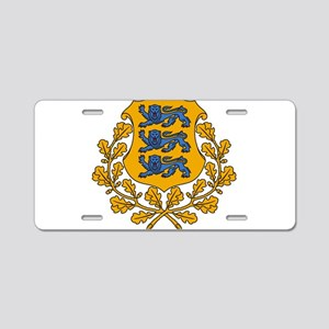 Estonia Coat Of Arms Aluminum License Plate
