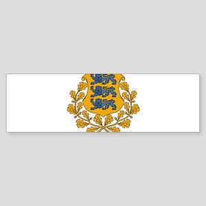 Estonia Coat Of Arms Sticker (Bumper)
