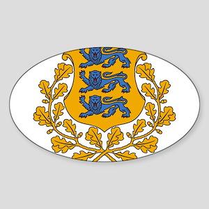 Estonia Coat Of Arms Sticker (Oval)