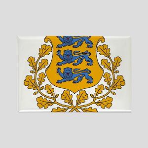 Estonia Coat Of Arms Rectangle Magnet