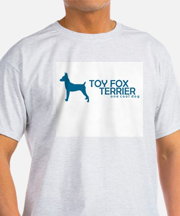 """Toy Fox Terrier """"One Cool Dog"""" Ash Grey T-Shirt"""