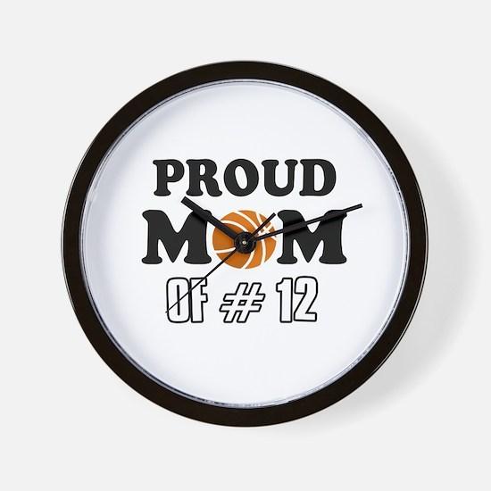 Cool Basketball Mom Designs Wall Clock