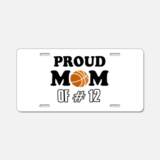 Cool Basketball Mom Designs Aluminum License Plate