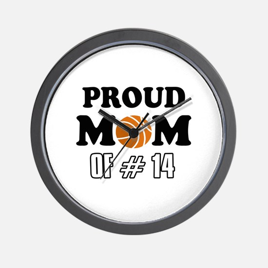 Cool Basketball Mom of number 14 Wall Clock