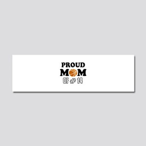 Cool Basketball Mom of number 14 Car Magnet 10 x 3