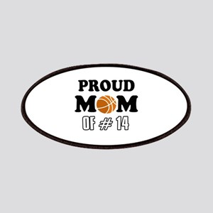 Cool Basketball Mom of number 14 Patches