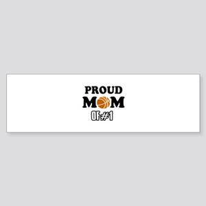 Cool Basketball Mom of number 1 Sticker (Bumper)